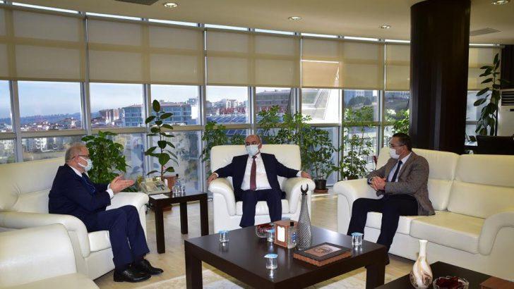 Rektör Akdoğan'dan Ondokuz Mayıs Üniversitesi Rektörü Ünal'a Ziyaret