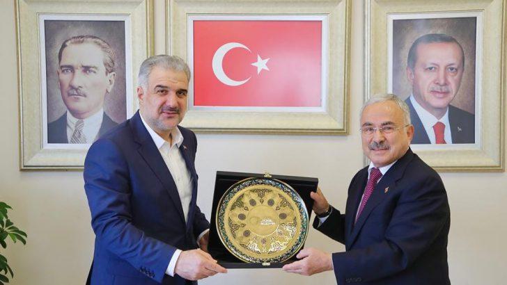 BAŞKAN GÜLER, İSTANBUL İL BAŞKANI OSMAN NURİ KABAKTEPE'Yİ ZİYARET ETTİ